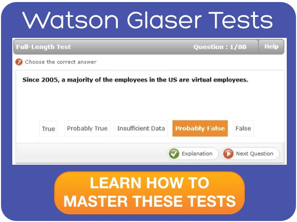 Watson Glaser Critical Thinking Practice Tests